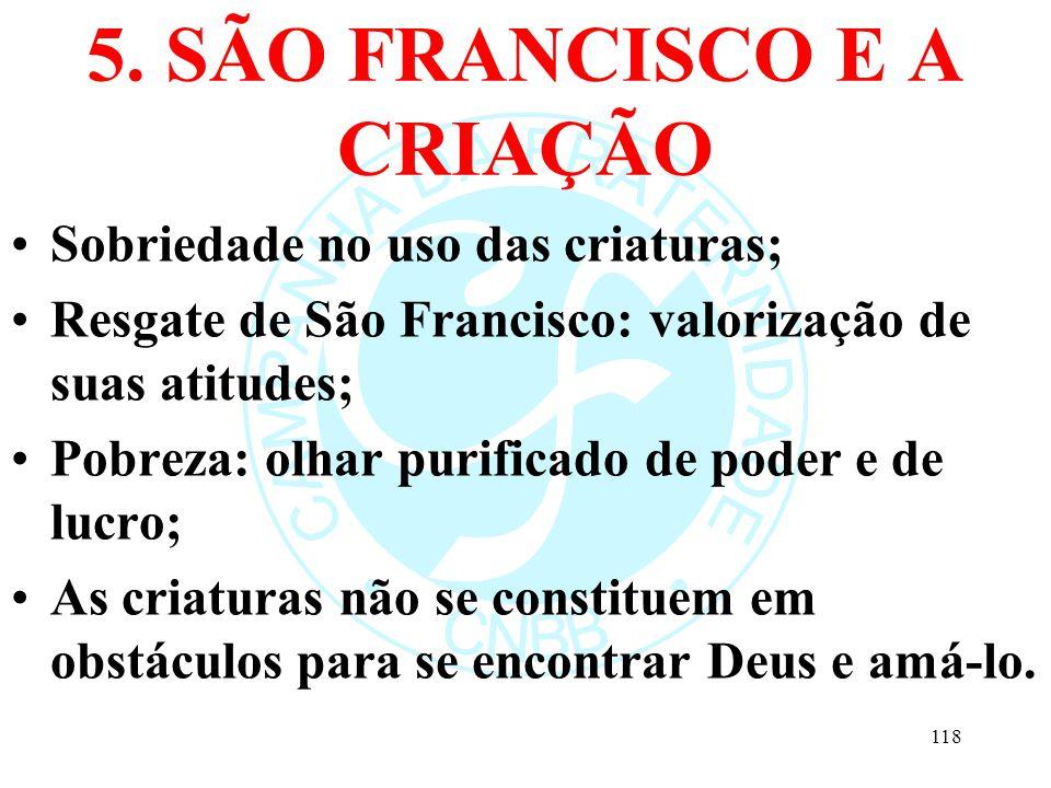 5. SÃO FRANCISCO E A CRIAÇÃO