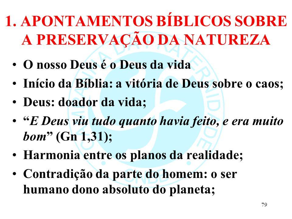 1. APONTAMENTOS BÍBLICOS SOBRE A PRESERVAÇÃO DA NATUREZA
