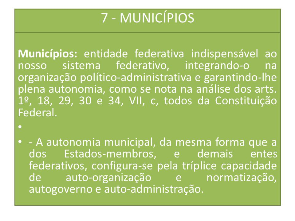 7 - MUNICÍPIOS