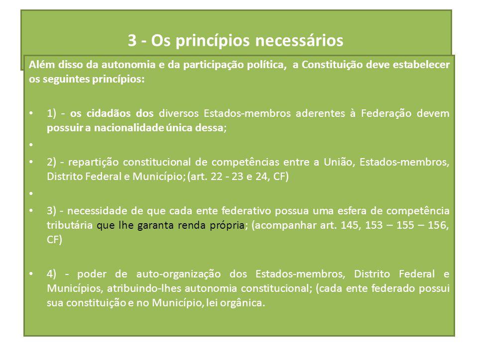 3 - Os princípios necessários