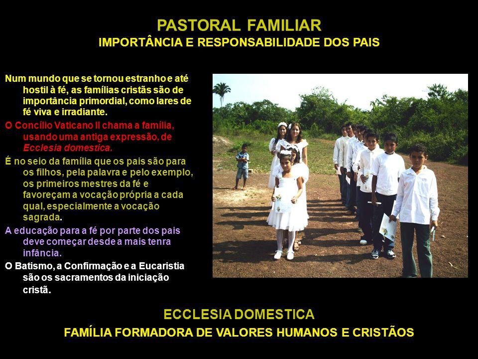 PASTORAL FAMILIAR IMPORTÂNCIA E RESPONSABILIDADE DOS PAIS