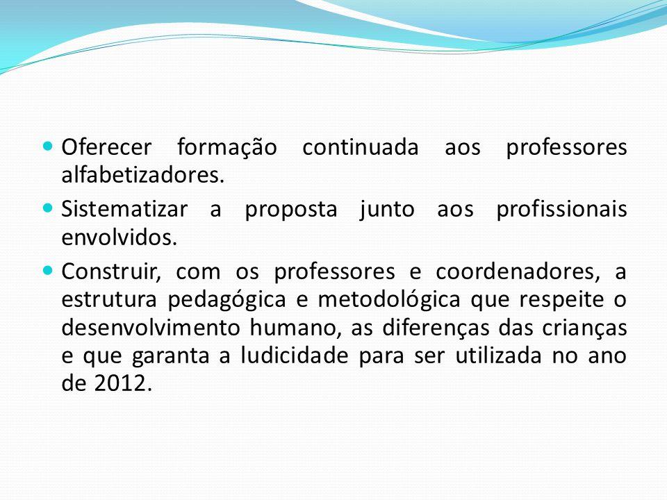 Oferecer formação continuada aos professores alfabetizadores.