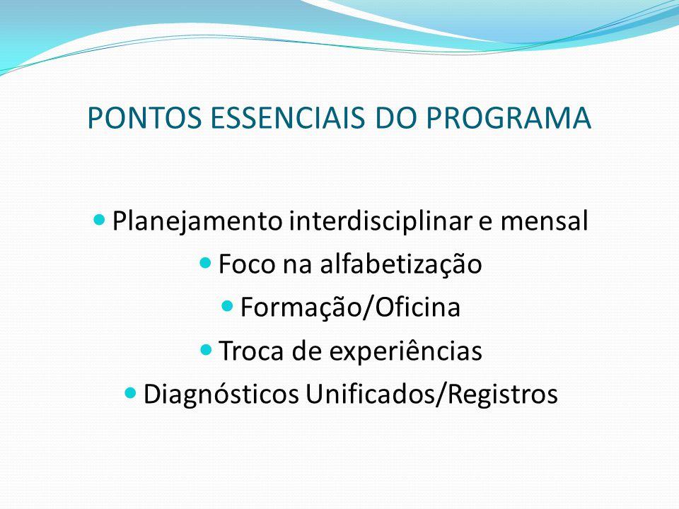 PONTOS ESSENCIAIS DO PROGRAMA