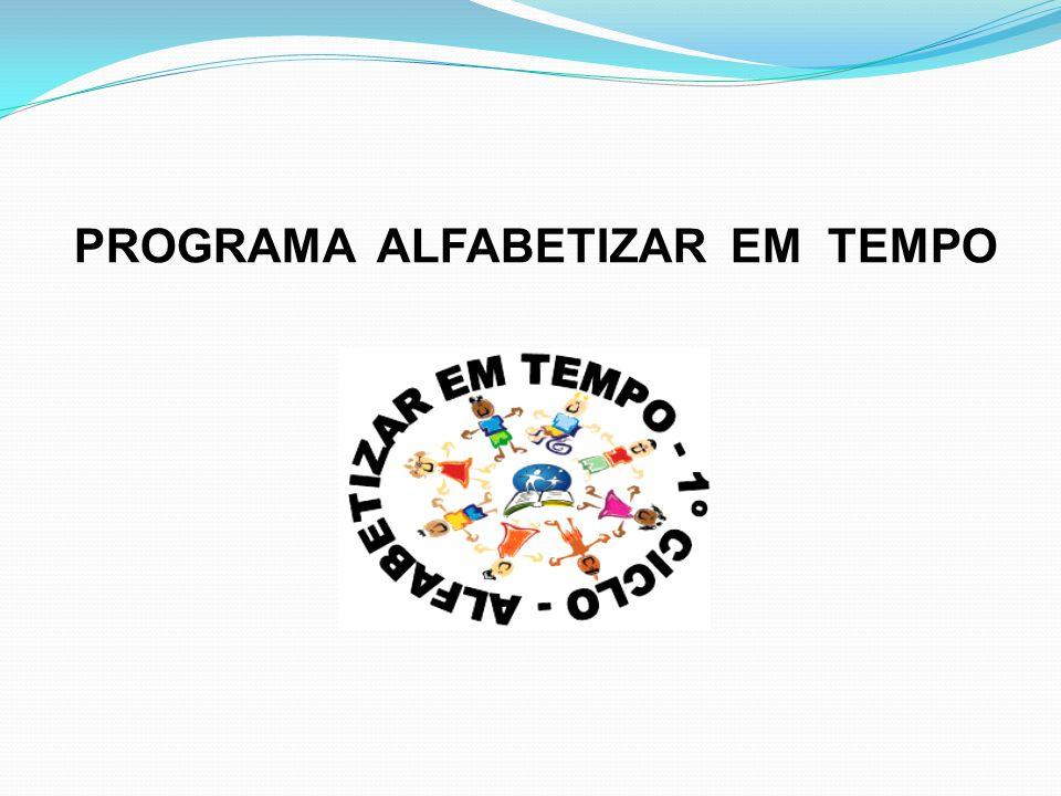 PROGRAMA ALFABETIZAR EM TEMPO