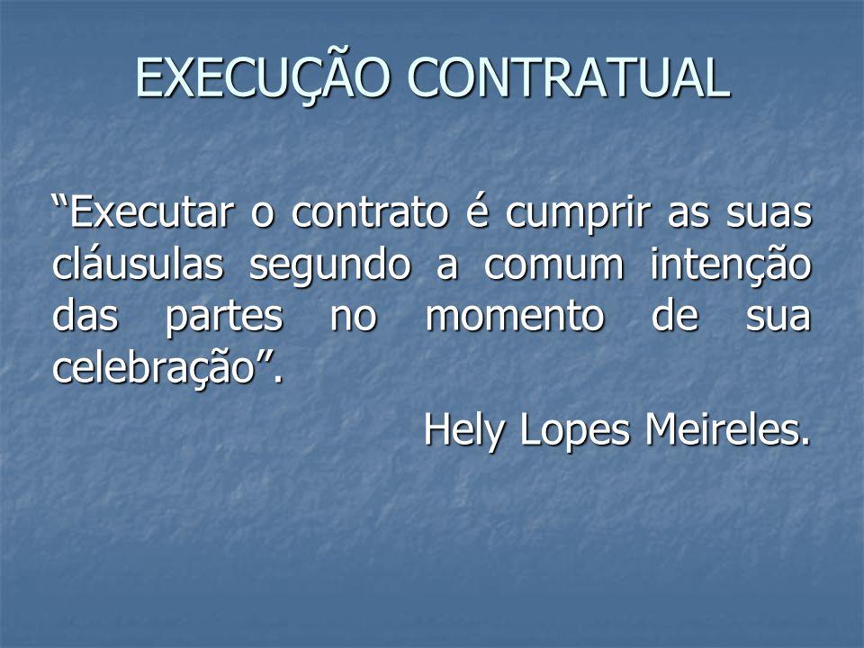 EXECUÇÃO CONTRATUAL
