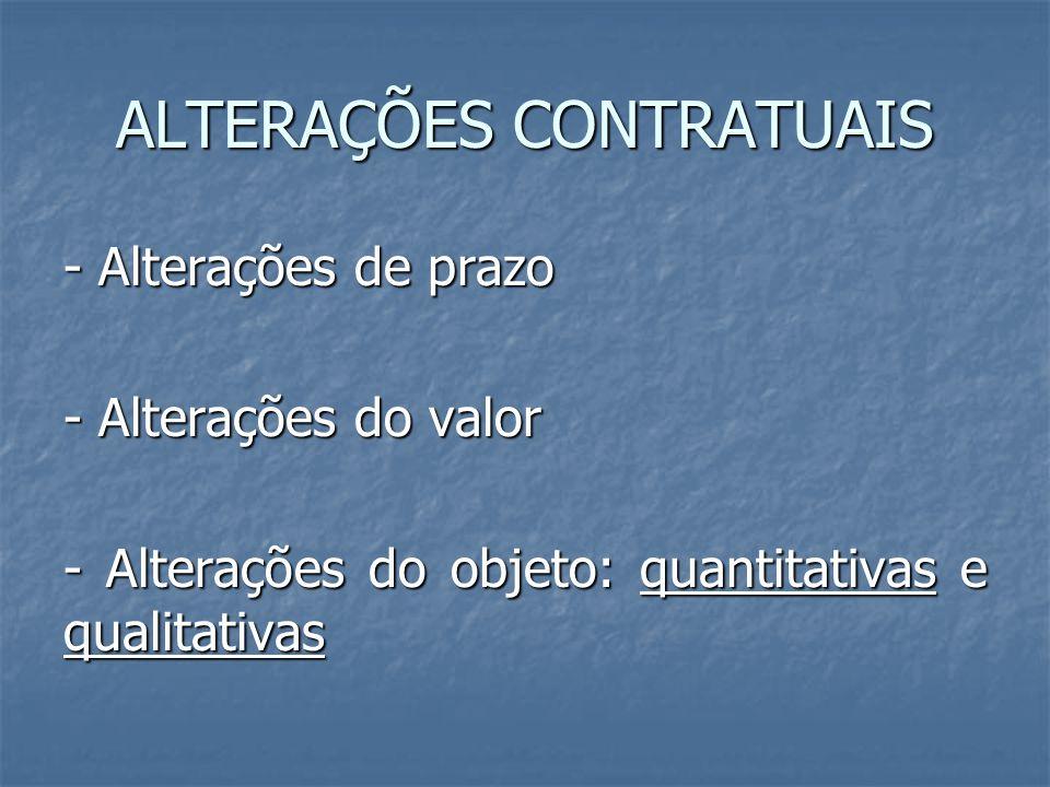 ALTERAÇÕES CONTRATUAIS