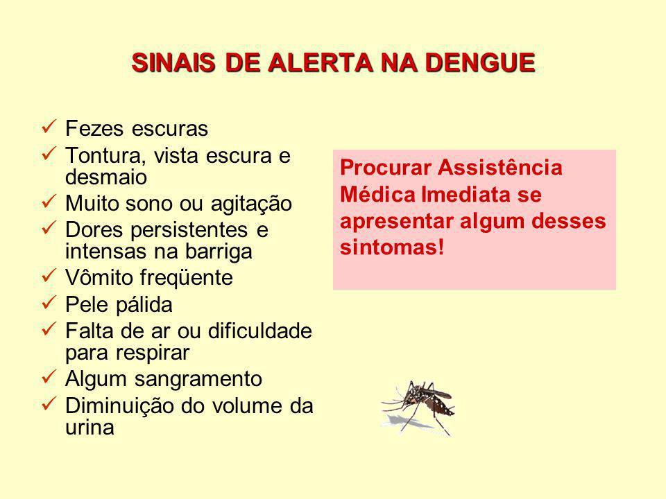 SINAIS DE ALERTA NA DENGUE