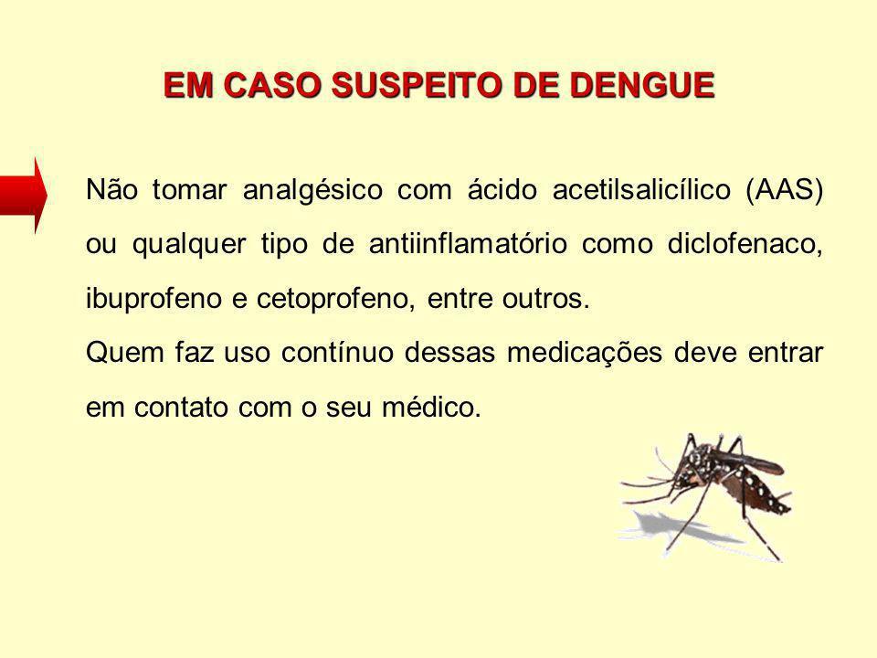 EM CASO SUSPEITO DE DENGUE