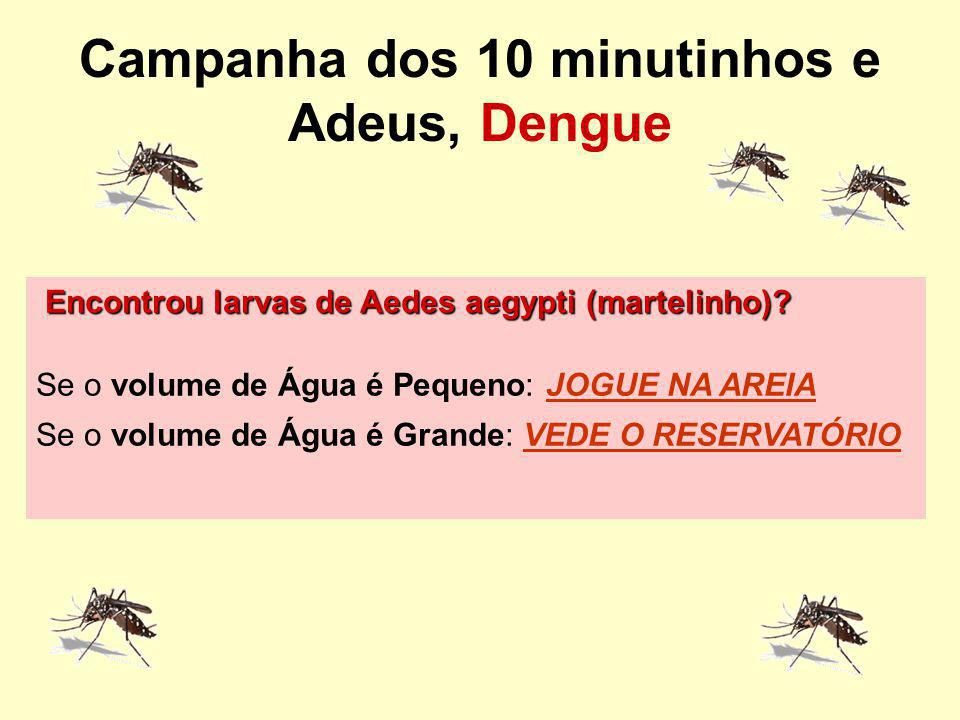 Campanha dos 10 minutinhos e Adeus, Dengue
