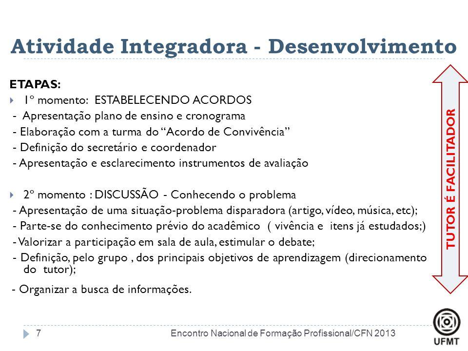 Atividade Integradora - Desenvolvimento