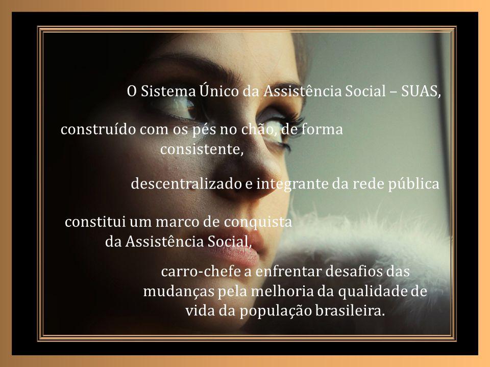 O Sistema Único da Assistência Social – SUAS,