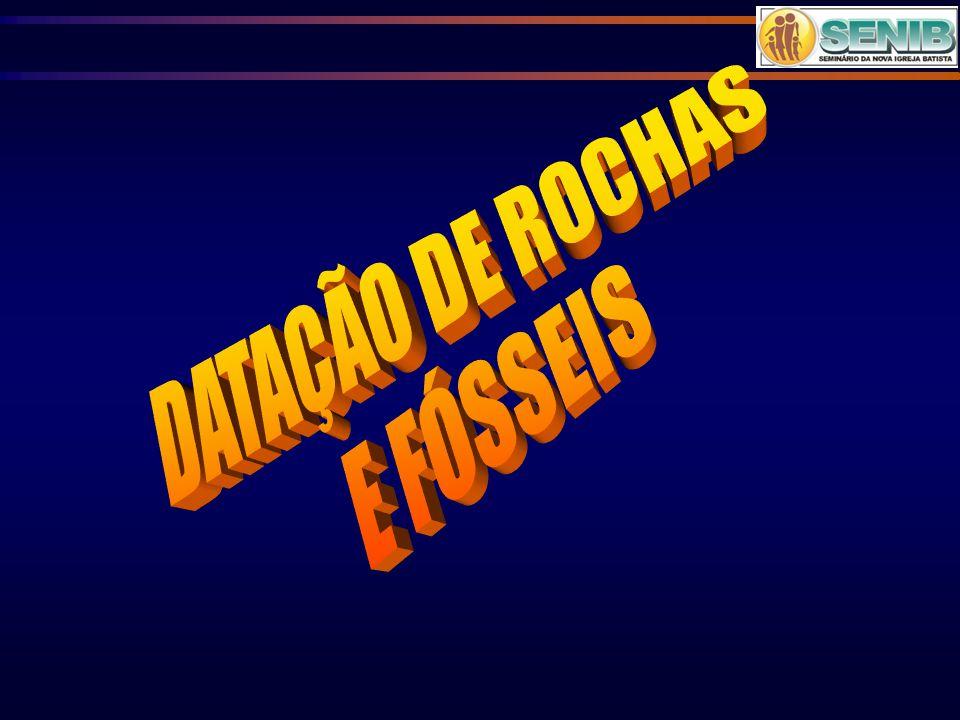 DATAÇÃO DE ROCHAS E FÓSSEIS
