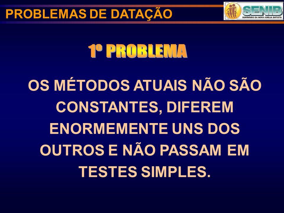 PROBLEMAS DE DATAÇÃO 1º PROBLEMA.