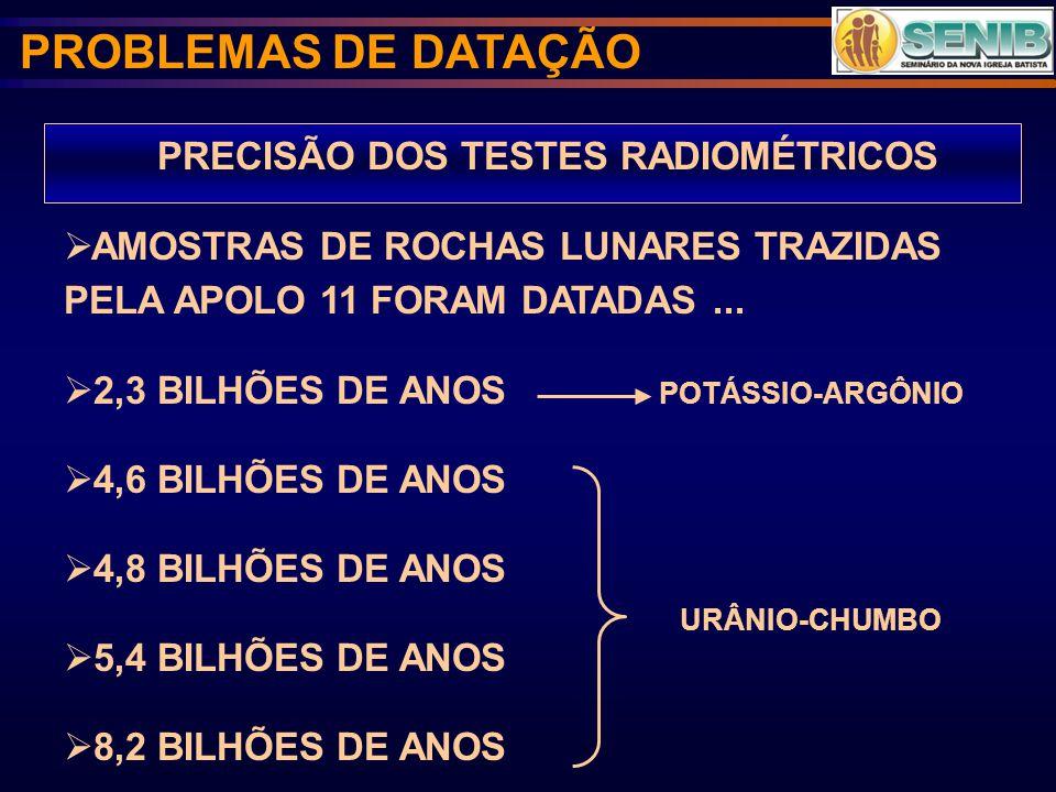 PRECISÃO DOS TESTES RADIOMÉTRICOS