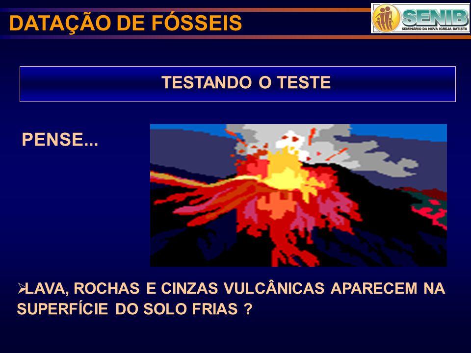 DATAÇÃO DE FÓSSEIS PENSE... TESTANDO O TESTE
