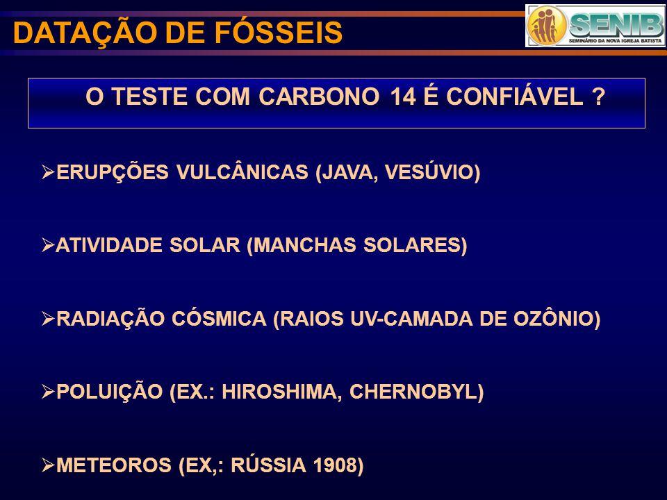 O TESTE COM CARBONO 14 É CONFIÁVEL