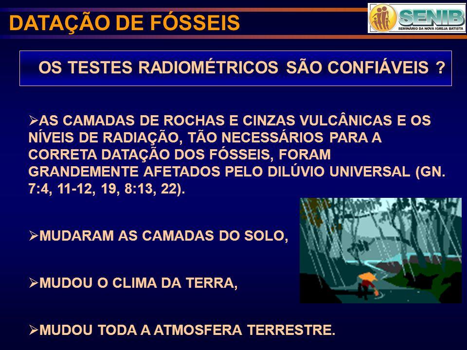 OS TESTES RADIOMÉTRICOS SÃO CONFIÁVEIS