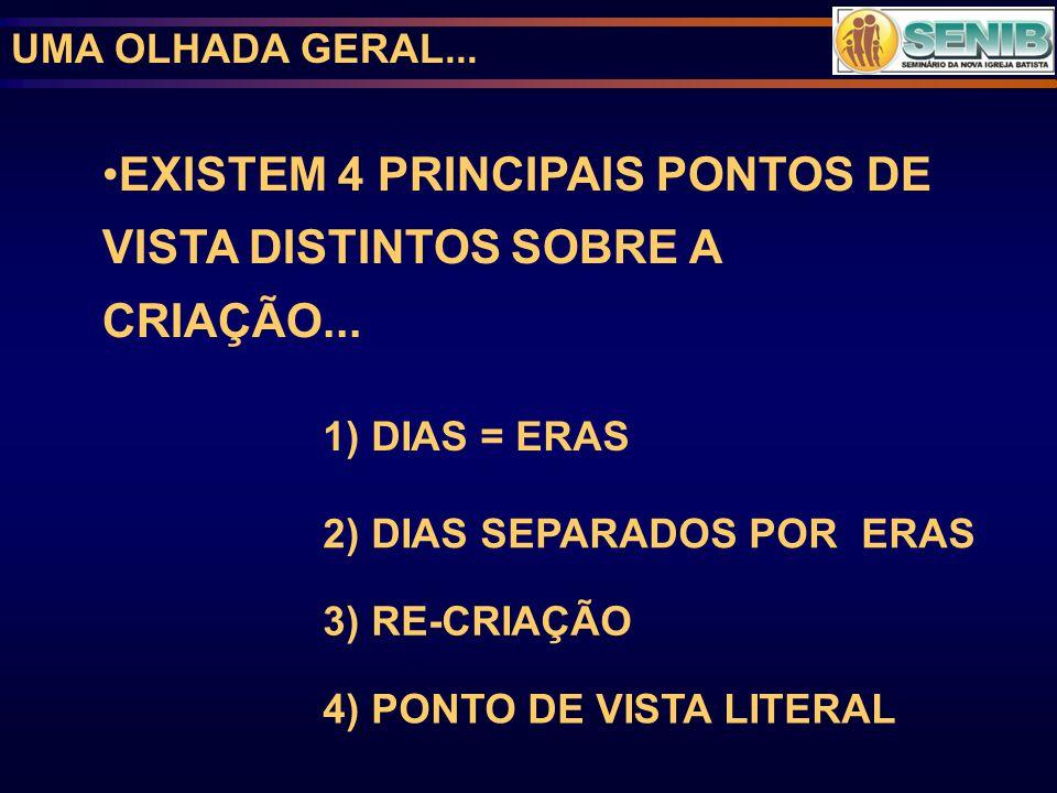 EXISTEM 4 PRINCIPAIS PONTOS DE VISTA DISTINTOS SOBRE A CRIAÇÃO...