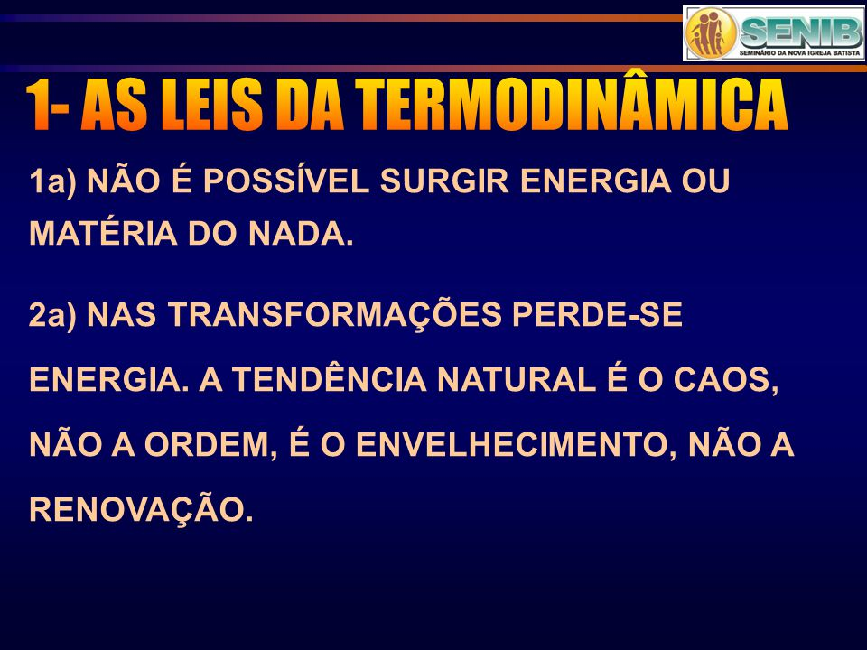 1- AS LEIS DA TERMODINÂMICA