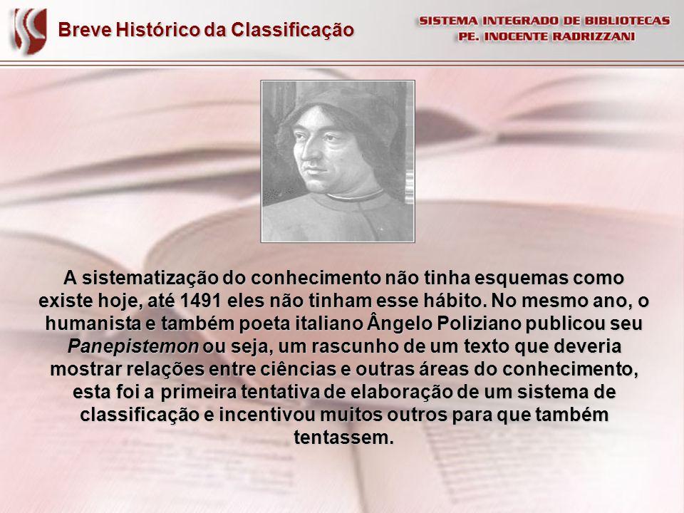 Breve Histórico da Classificação