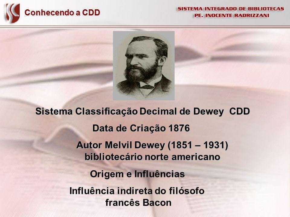 Sistema Classificação Decimal de Dewey CDD