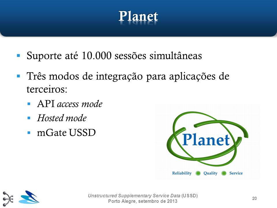 Planet Suporte até 10.000 sessões simultâneas