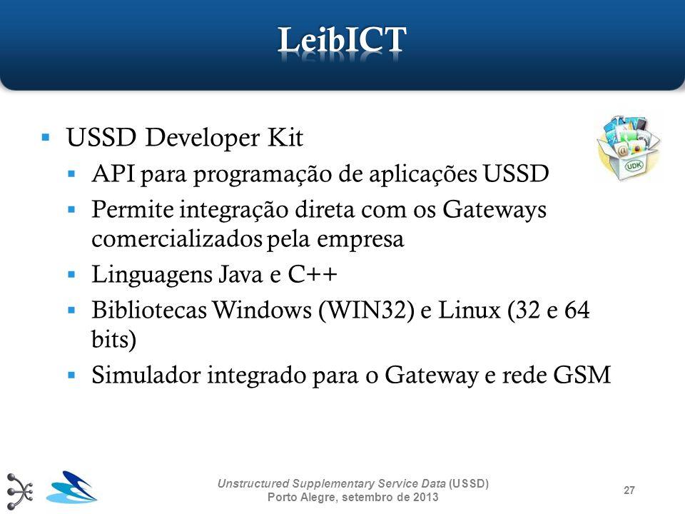 LeibICT USSD Developer Kit API para programação de aplicações USSD