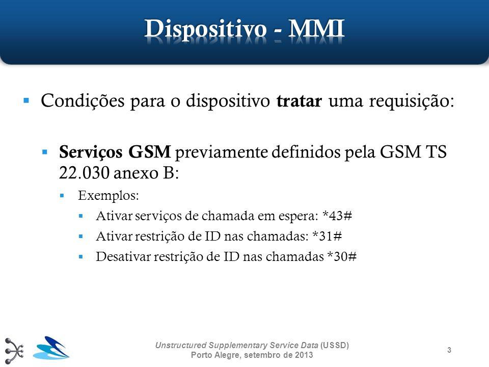 Dispositivo - MMI Condições para o dispositivo tratar uma requisição: