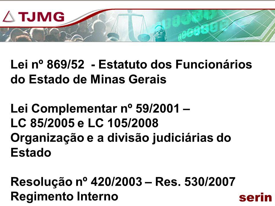 Lei nº 869/52 - Estatuto dos Funcionários do Estado de Minas Gerais