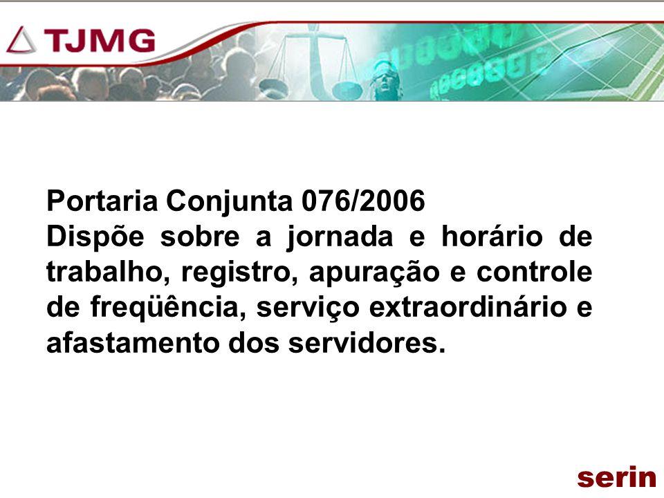 Portaria Conjunta 076/2006