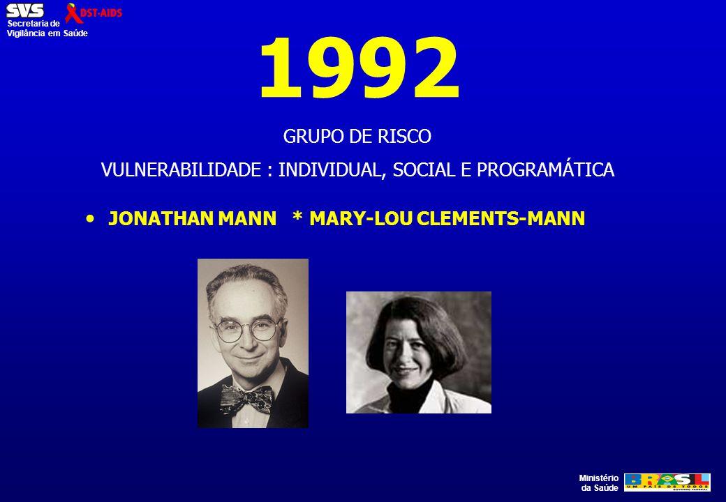 VULNERABILIDADE : INDIVIDUAL, SOCIAL E PROGRAMÁTICA