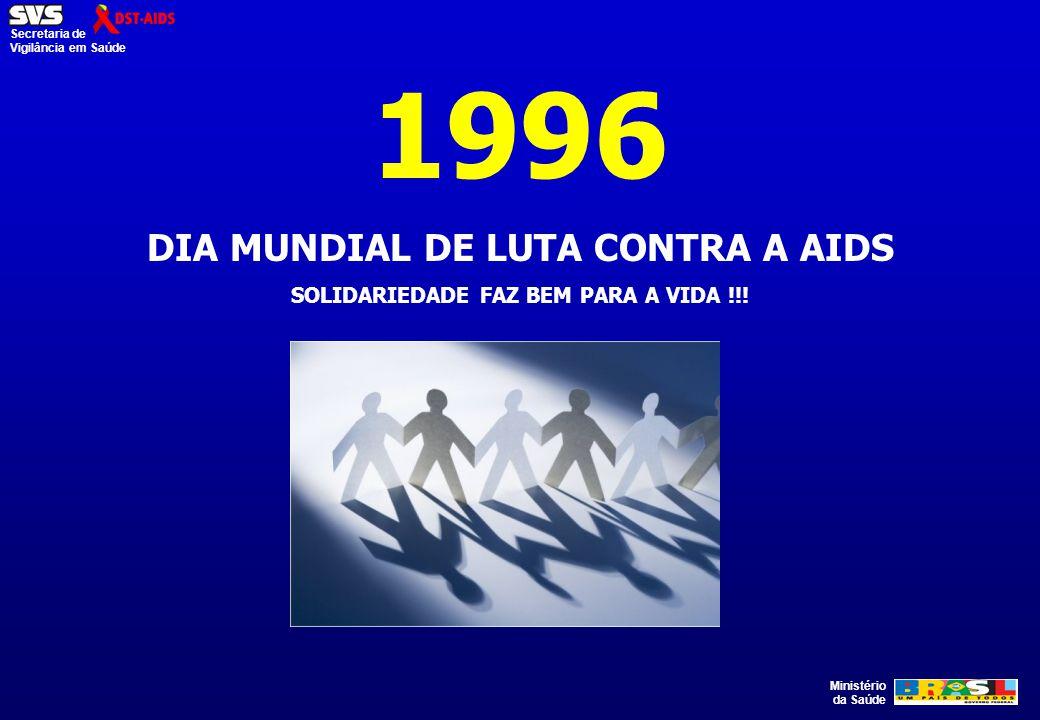 1996 DIA MUNDIAL DE LUTA CONTRA A AIDS