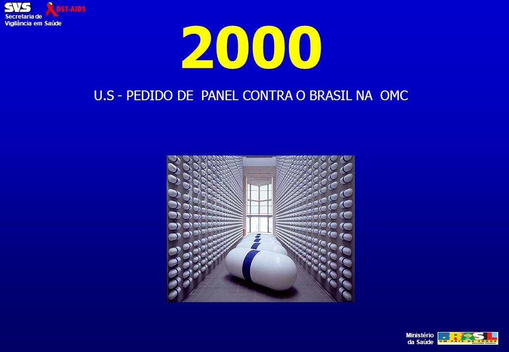 U.S - PEDIDO DE PANEL CONTRA O BRASIL NA OMC