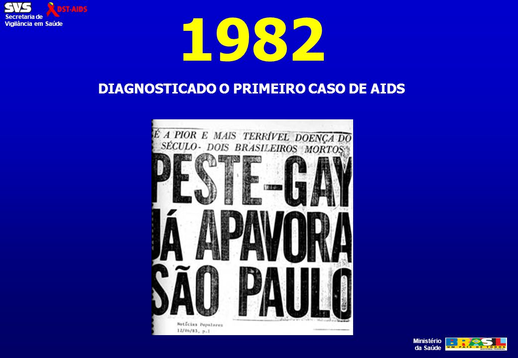 DIAGNOSTICADO O PRIMEIRO CASO DE AIDS