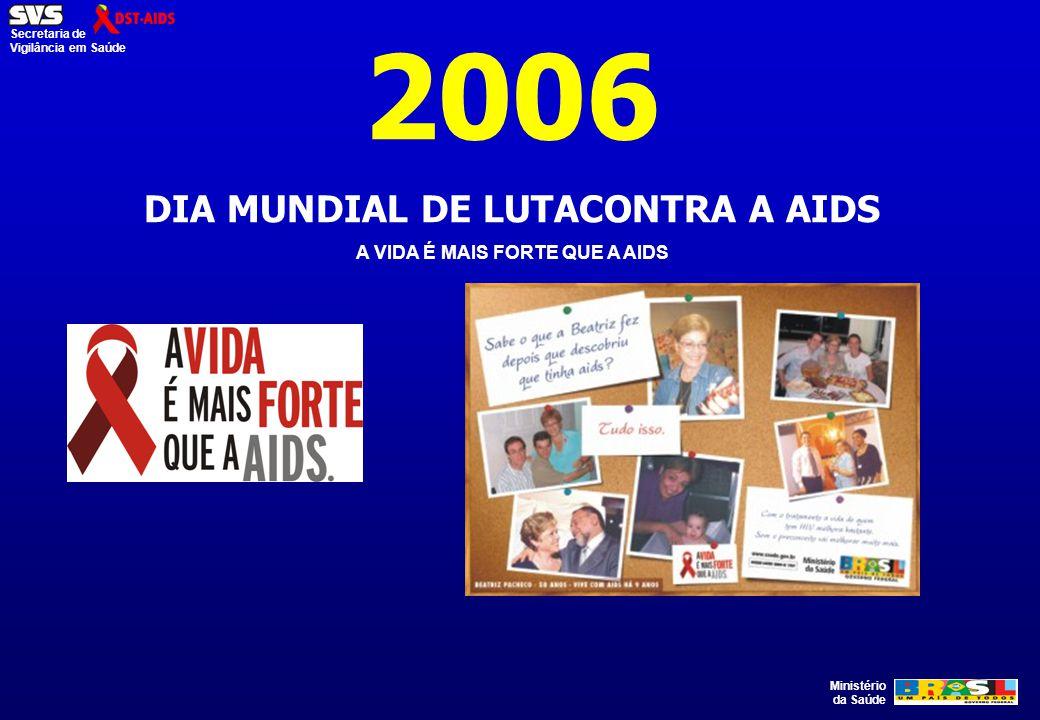 DIA MUNDIAL DE LUTACONTRA A AIDS A VIDA É MAIS FORTE QUE A AIDS