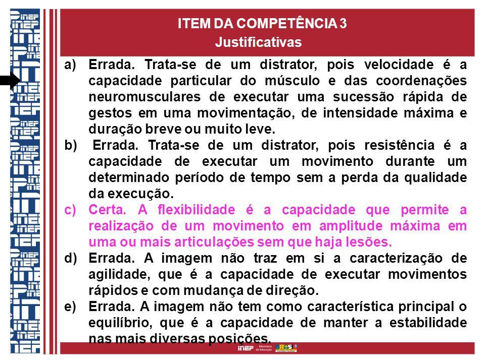 ITEM DA COMPETÊNCIA 3 Justificativas.