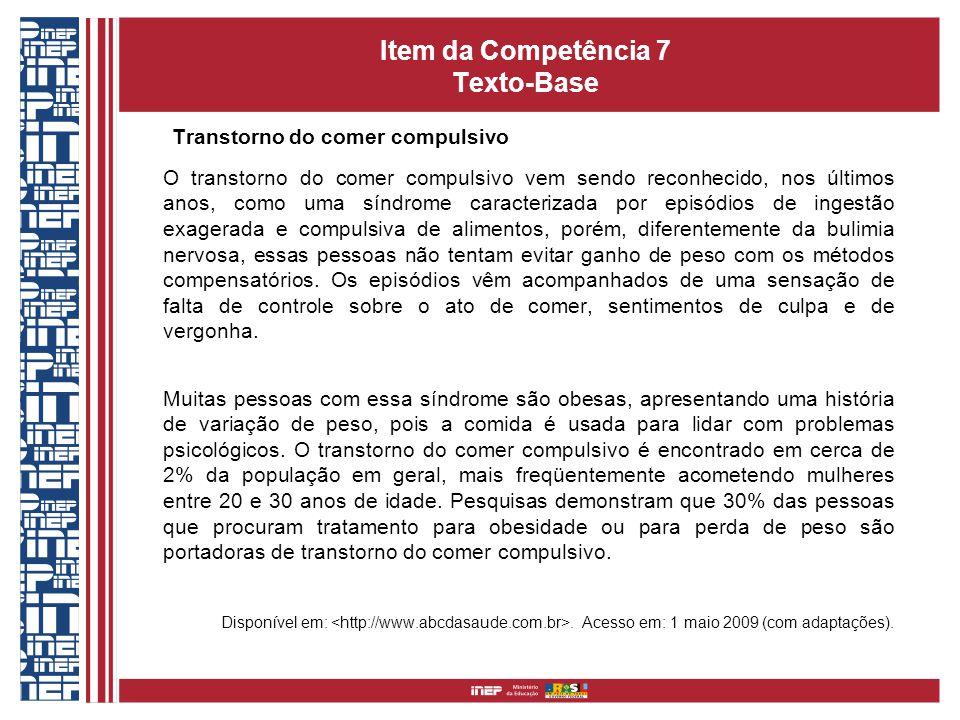 Item da Competência 7 Texto-Base
