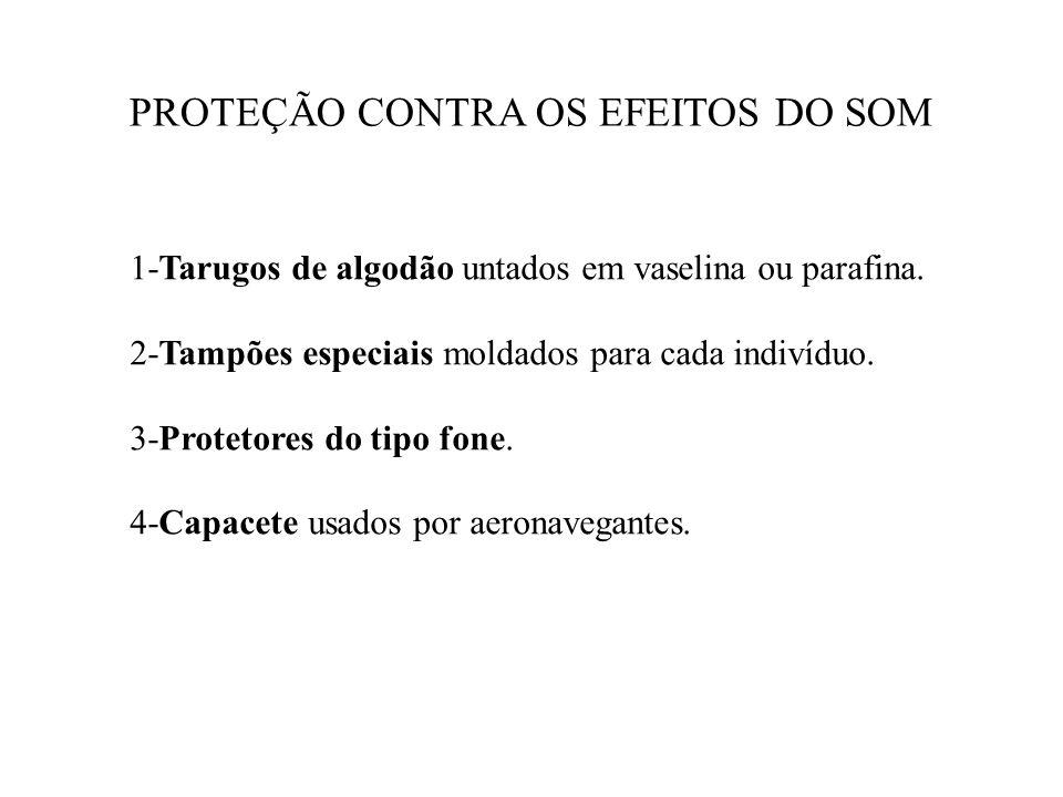 PROTEÇÃO CONTRA OS EFEITOS DO SOM