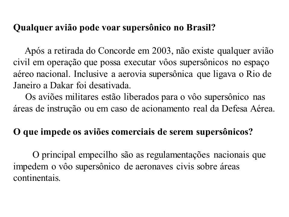 Qualquer avião pode voar supersônico no Brasil