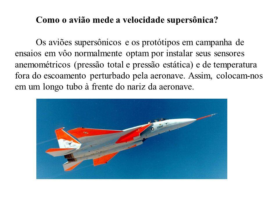 Como o avião mede a velocidade supersônica