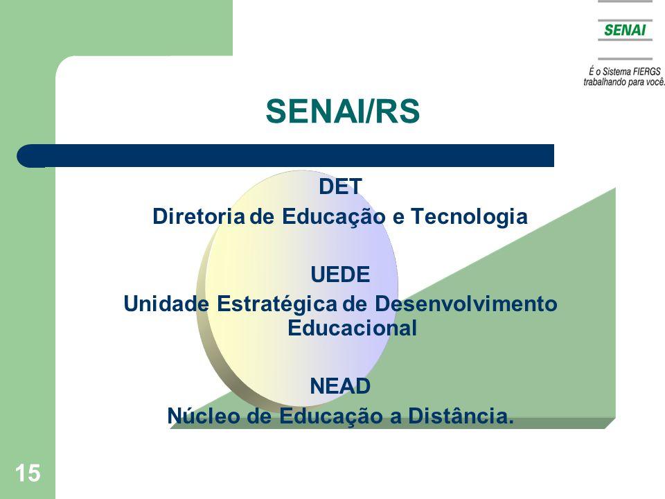 SENAI/RS DET Diretoria de Educação e Tecnologia UEDE