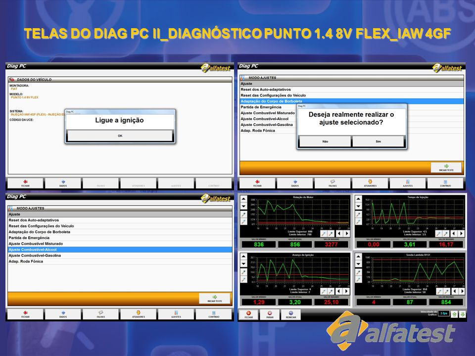 TELAS DO DIAG PC II_DIAGNÓSTICO PUNTO 1.4 8V FLEX_IAW 4GF