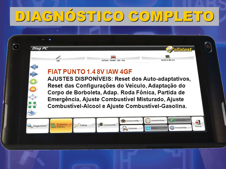 DIAGNÓSTICO COMPLETO FIAT PUNTO 1.4 8V IAW 4GF