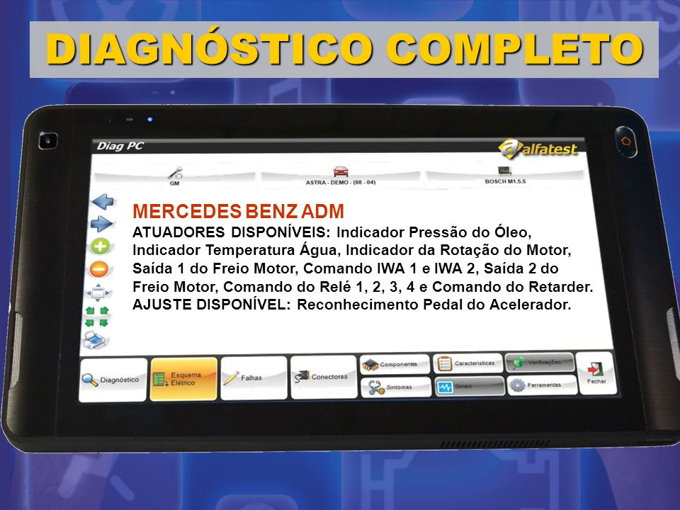 DIAGNÓSTICO COMPLETO MERCEDES BENZ ADM