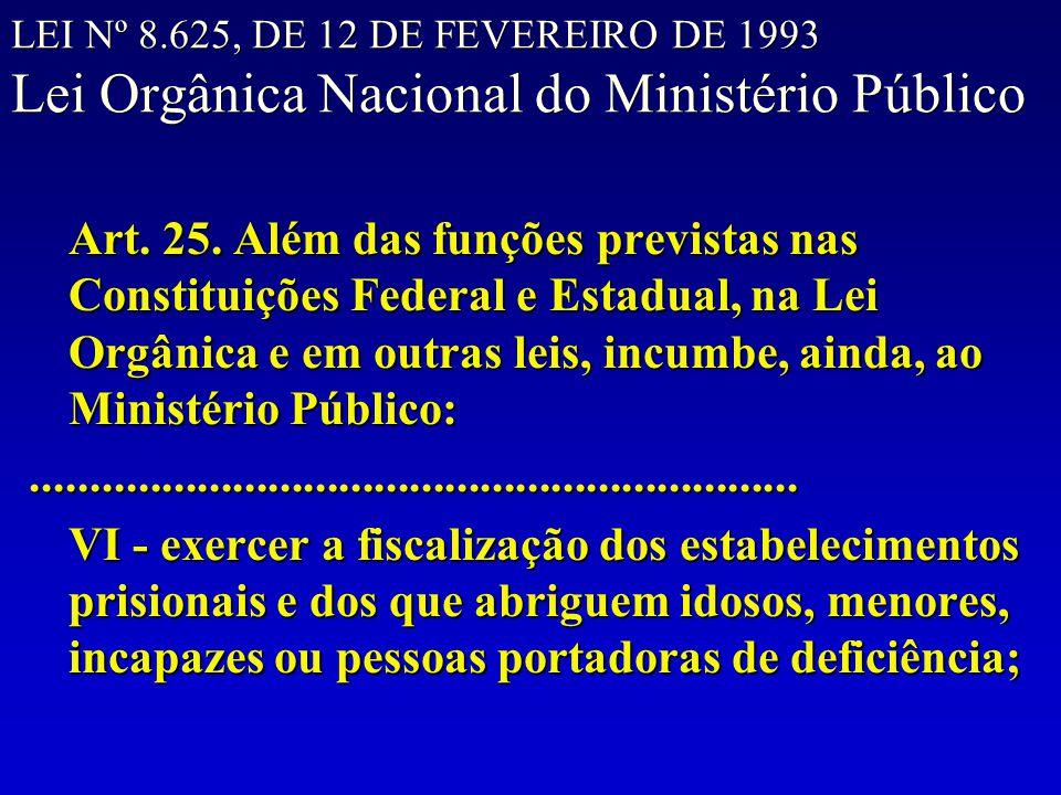 LEI Nº 8.625, DE 12 DE FEVEREIRO DE 1993 Lei Orgânica Nacional do Ministério Público