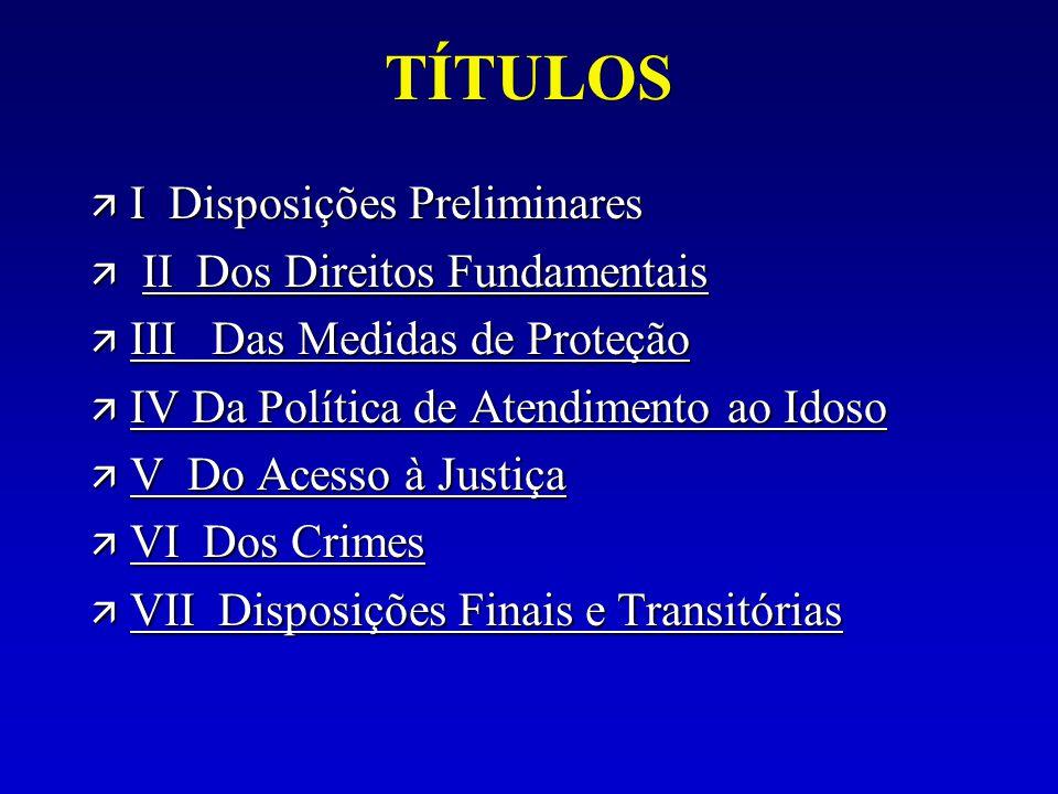 TÍTULOS I Disposições Preliminares II Dos Direitos Fundamentais
