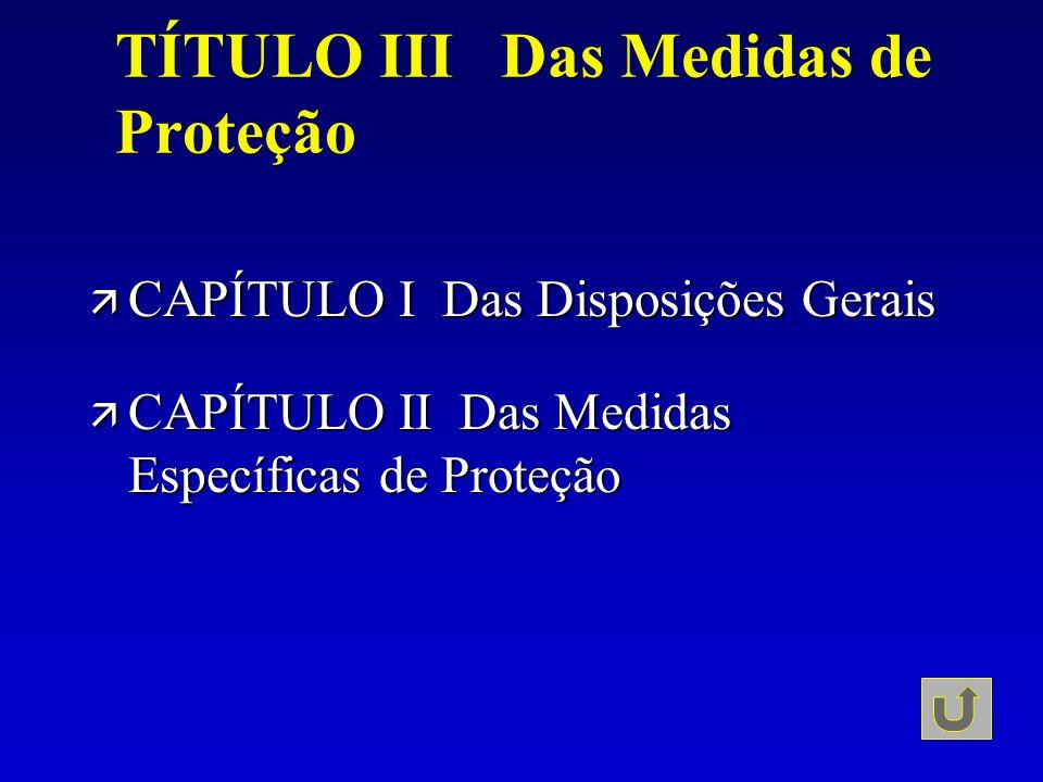 TÍTULO III Das Medidas de Proteção