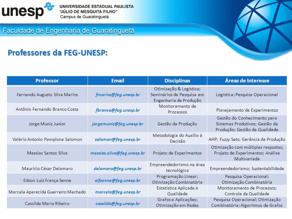 Professores da FEG-UNESP: