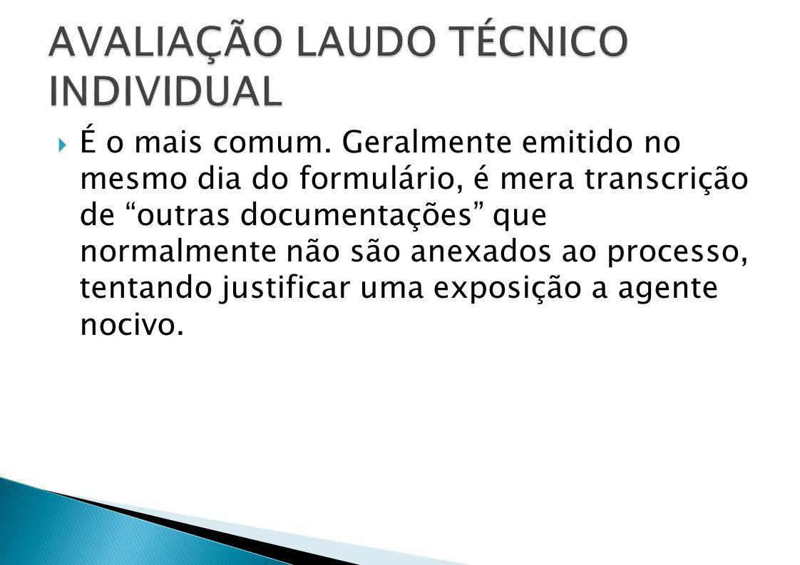 AVALIAÇÃO LAUDO TÉCNICO INDIVIDUAL