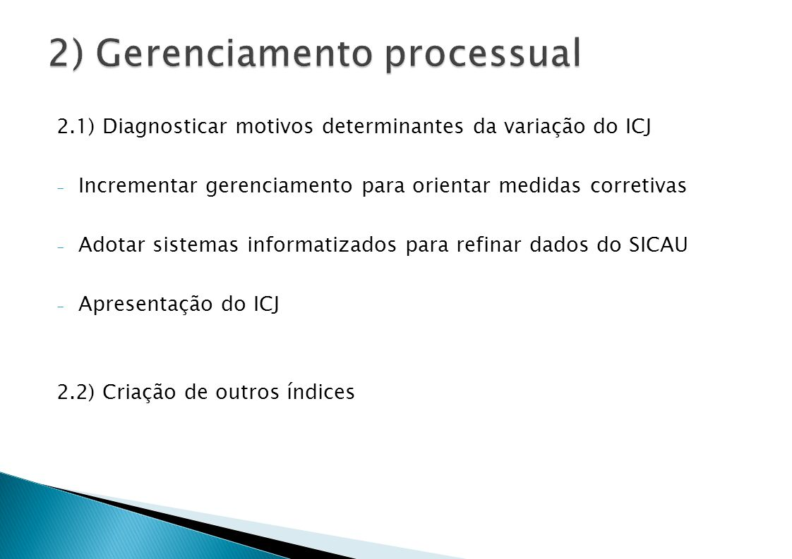 2) Gerenciamento processual